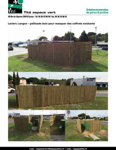 Leclerc Langon - Pallisade bois