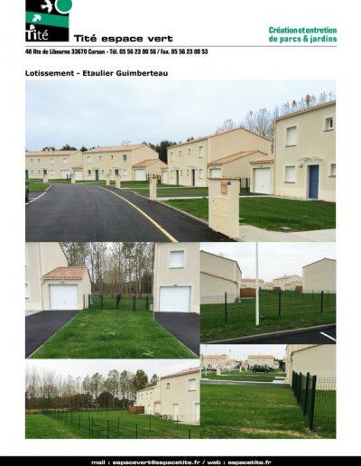 Lotissement - Etaulier Guimberteau