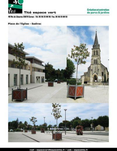 Place de l'Eglise -Sadirac
